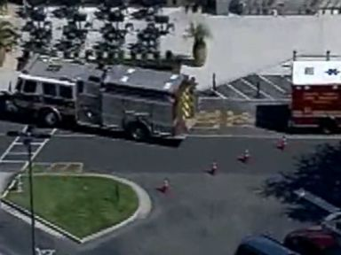 PHOTO: Skywitness 9 was over the scene as people gathered outside the Florida Mall following a shooting scare on August 26, 2016.