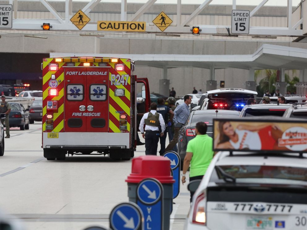 PHOTO: Fire rescue and emergency vehicles at the Fort Lauderdale Airport, on Jan. 6, 2017, in Fort Lauderdale, Florida.