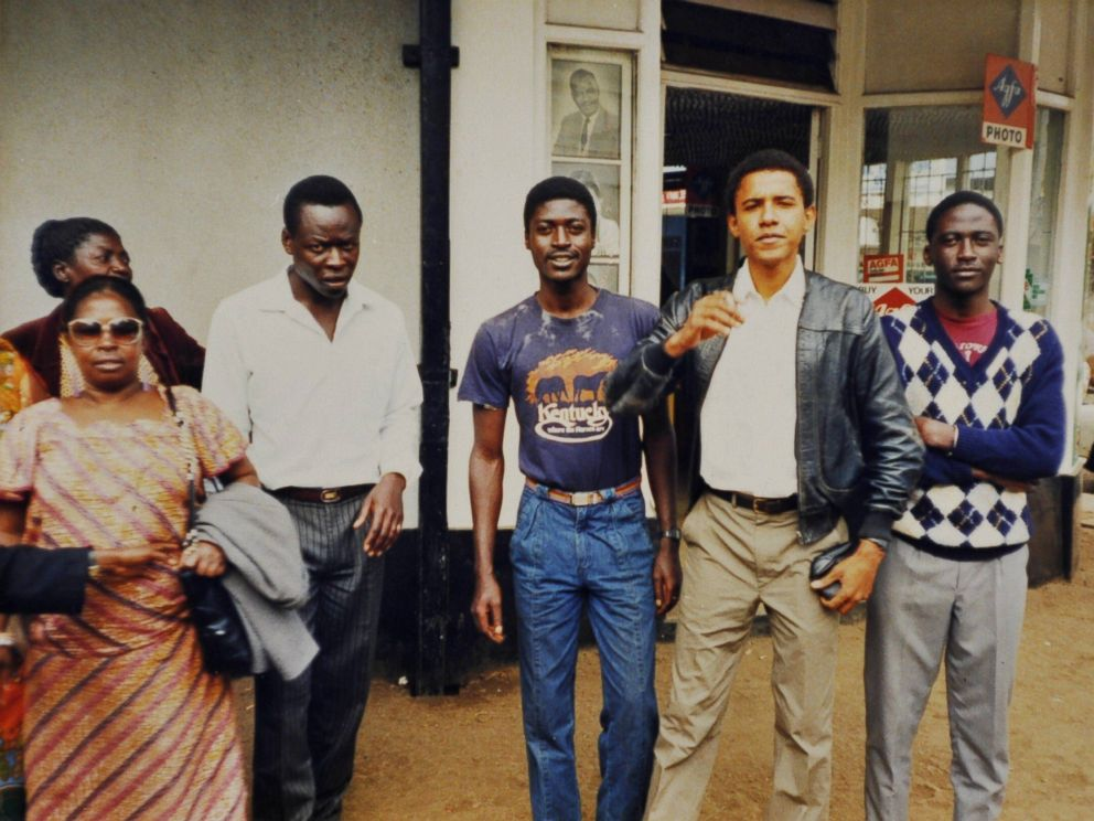 PHOTO: Barack Obama seen here in the late-1980s with members of his family in Nairobi, Kenya.