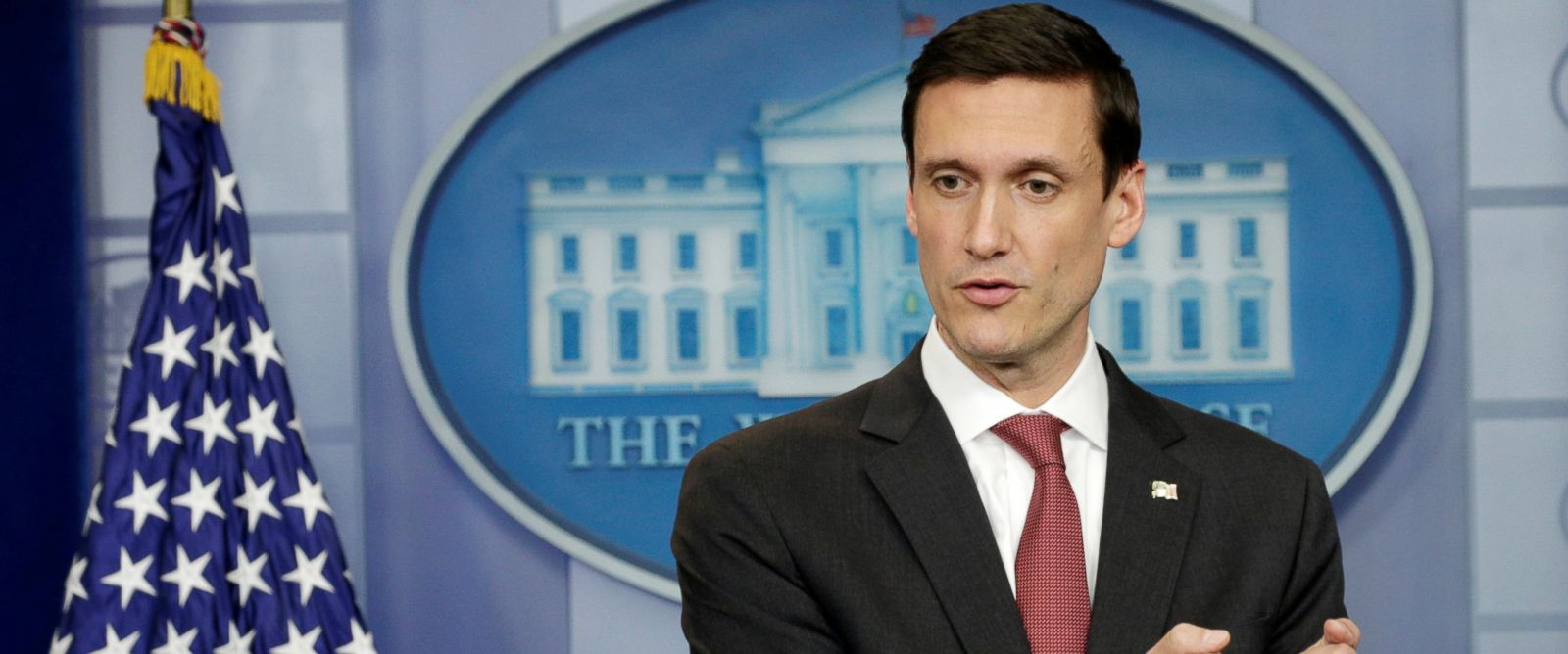 PHOTO: Tom Bossert, Homeland Security Adviser to President Trump speaks at a news briefing at the White House in Washington, May 11, 2017.
