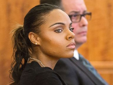 PHOTO: Shayanna Jenkins, the fiancee of former New England Patriots Aaron Hernandez, listens during his murder trial at the Bristol County Superior Court in Fall River, Mass., Feb. 25, 2015.