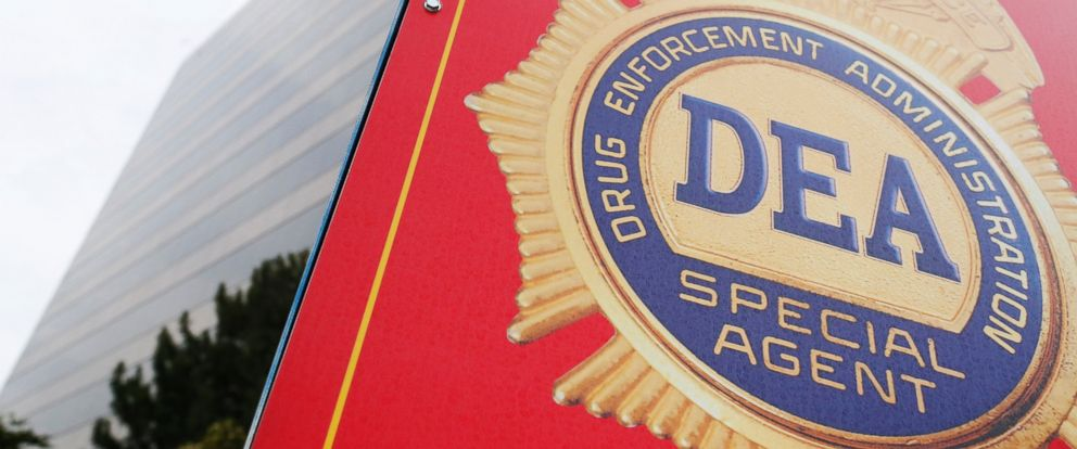 PHOTO: A sign with a DEA badge marks the entrance to the U.S. Drug Enforcement Administration (DEA) Museum in Arlington, Va., Aug. 8, 2013.