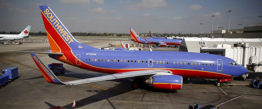 PHOTO: Southwest Airlines planes are seen at LAX airport in Los Angeles, Calif., Oct. 22, 2015.