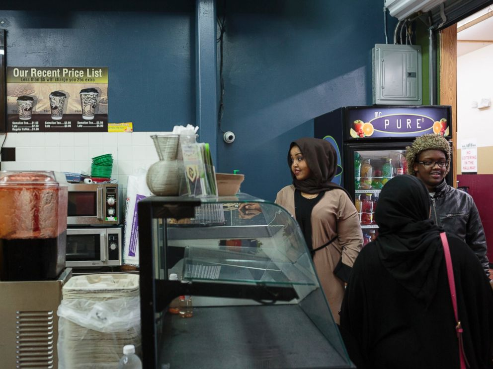 PHOTO: A group of students gather at the Somali mall, otherwise known as Karmel, in Minneapolis, Feb. 20, 2017. Karmel attracts many individuals from the Somali community, offering a hub of local foods and home to over 200 vendors.