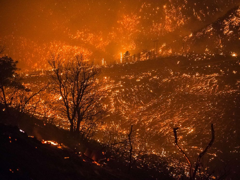 California fires: Fireman dies fighting blaze as hundreds of homes burn