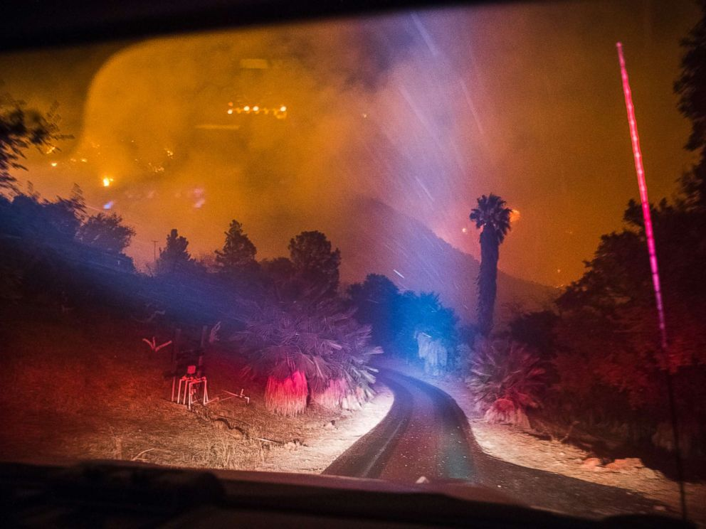 PHOTO: Upper Toro Canyon minutes before the Thomas Fire moved through it on Dec. 11, 2017.