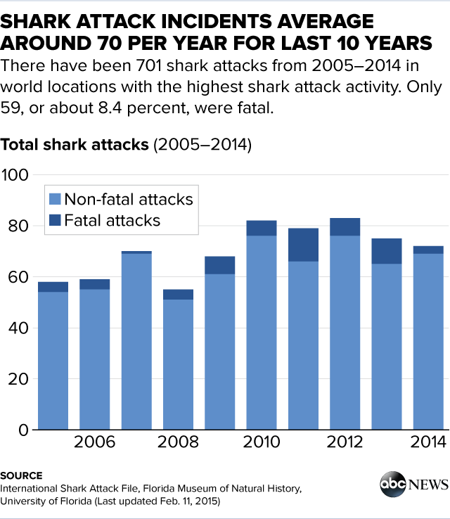 everything you need to know about shark attacks as told by graphs