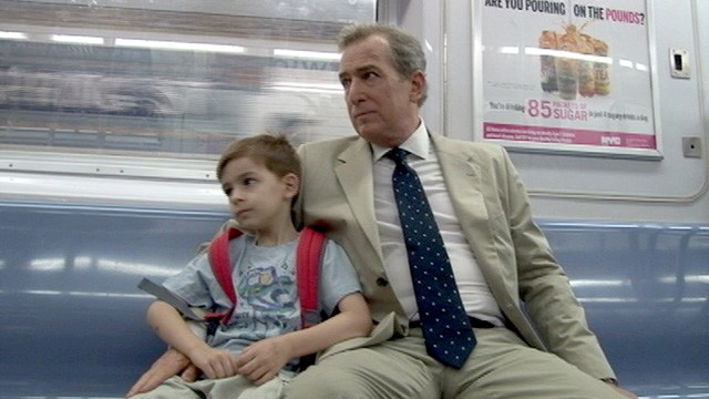 PHOTO: Steve Harris and his son, Ben, 5, travel on the subway in New York City. Harris, a single father, said there was nothing