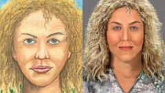 PHOTO: In this composite image is what police believe may be the sixth victim of the Happy Face Killer. A sketch from the killer is on the left and police renderings is on the right.