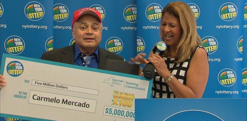 PHOTO: Carmelo Mercado retired from the department because of 9/11-related health issues. His winning lottery ticket was worth $5 million.
