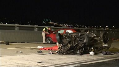 PHOTO: There was a wrong-way crash on Tappan Zee Bridge in Tarrytown, NY, July 23, 2013.