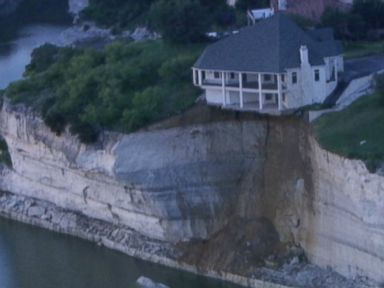 Luxury House on Brink of Collapsing Into Texas Lake