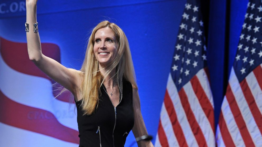 Anne Coulter calls Drudge fake news Berkeley 4/21/17