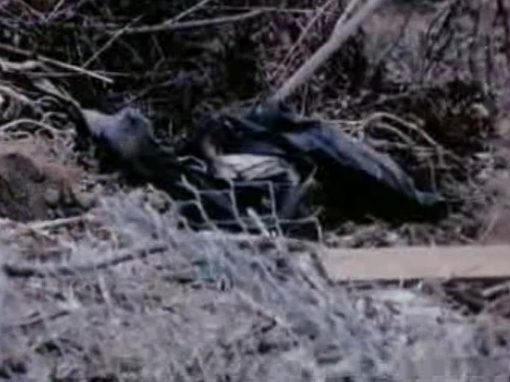 PHOTO: A KABC News TV crew found these blue jeans that were introduced as evidence at trial for the Sharon Tate murders.