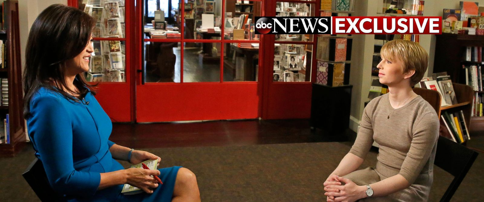 """PHOTO: Chelsea Manning sat down for an exclusive interview with ABCs Juju Chang to air in a special edition of ABC News """"Nightline."""""""