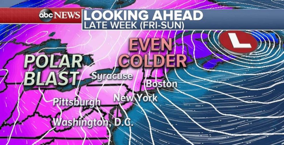 The air coming in at the end of the week is likely to be even colder than this past weeks bitter temperatures.