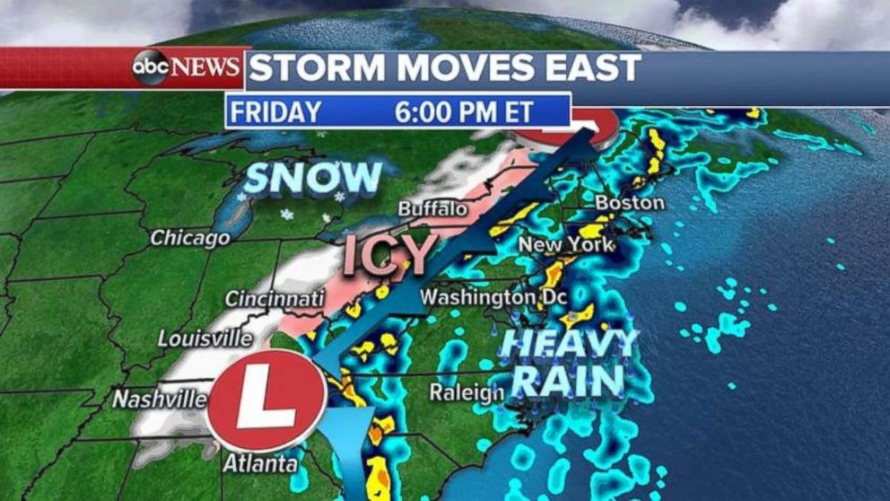 Snow will begin moving out of the Midwest overnight into the weekend.
