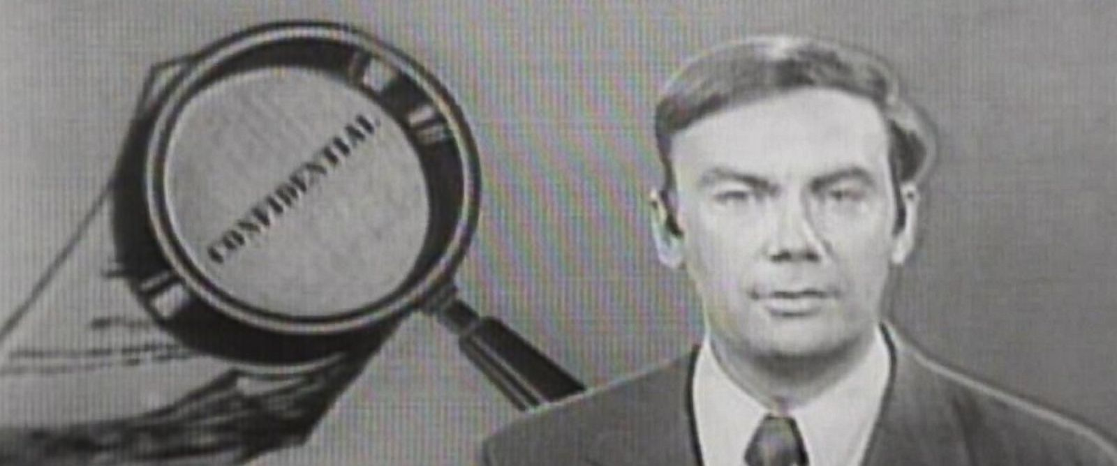 PHOTO: Sam Donaldson reports on the break-in at the Democratic National Committee headquarters in Washington, D.C. on ABCs Weekend News, June 17, 1972.