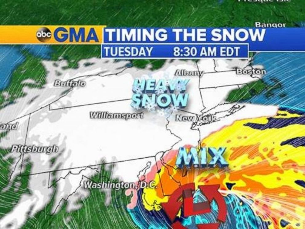 PHOTO: Heavy snow will hit Boston by Tuesday morning.