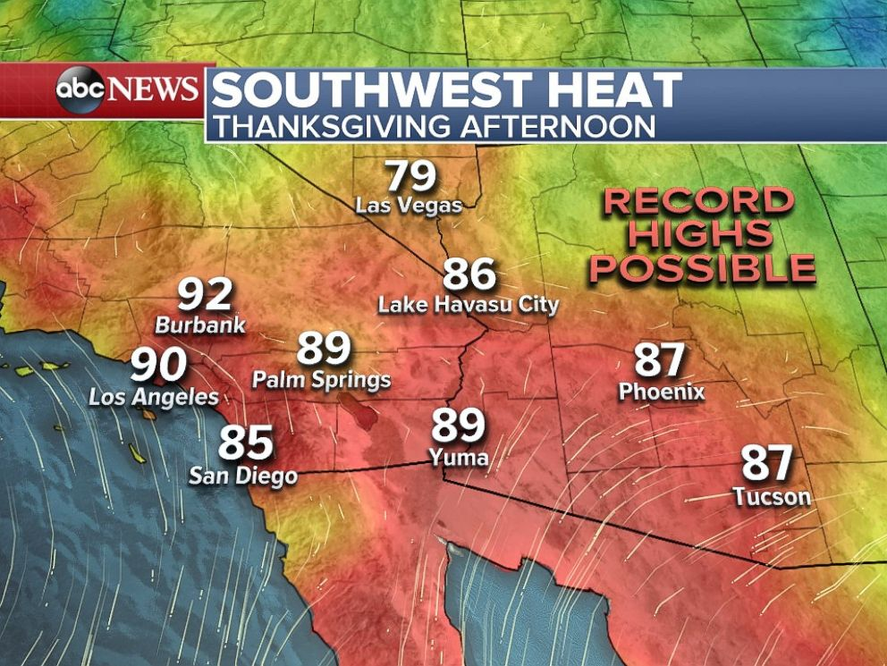 Heat is gripping much of the Southwest United States.