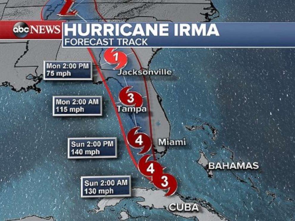 PHOTO: Hurricane Irma approached Florida, Sept. 9, 2017.