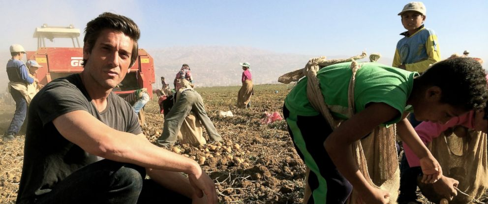 PHOTO: David Muir traveled to Lebanons border with Syria, reporting on the thousands of children working in the fields to help their families survive.