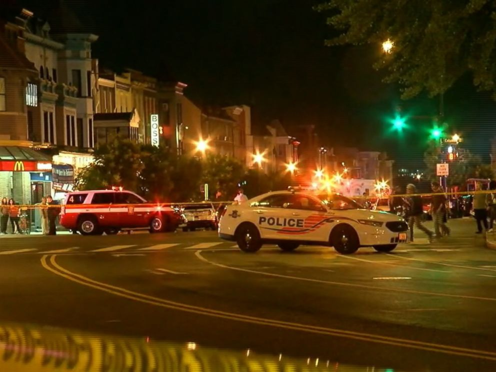 DC officers, DPW worker struck by vehicle in Adams Morgan; 2 arrested