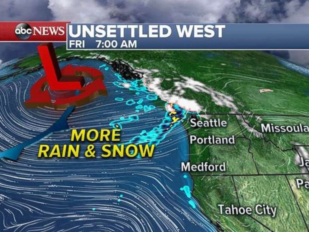 Rain and snow are already falling ahead of a storm system set to hit the Northwest.