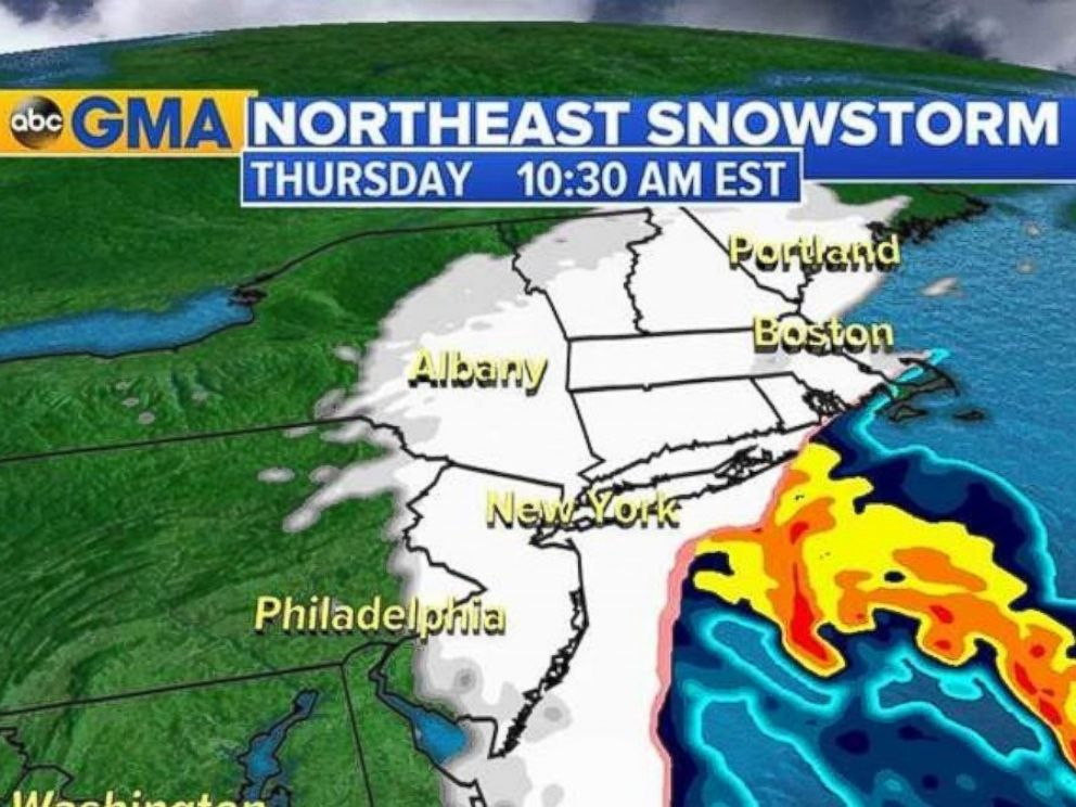Photo Abc News Meteorologists Say It Will Be Snowing 2 To 4 Inches Per Hour