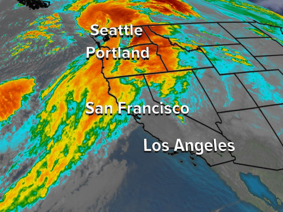 Storms To Bring Heavy Rain Snow Wind To Western US Over - Rain and snow map us