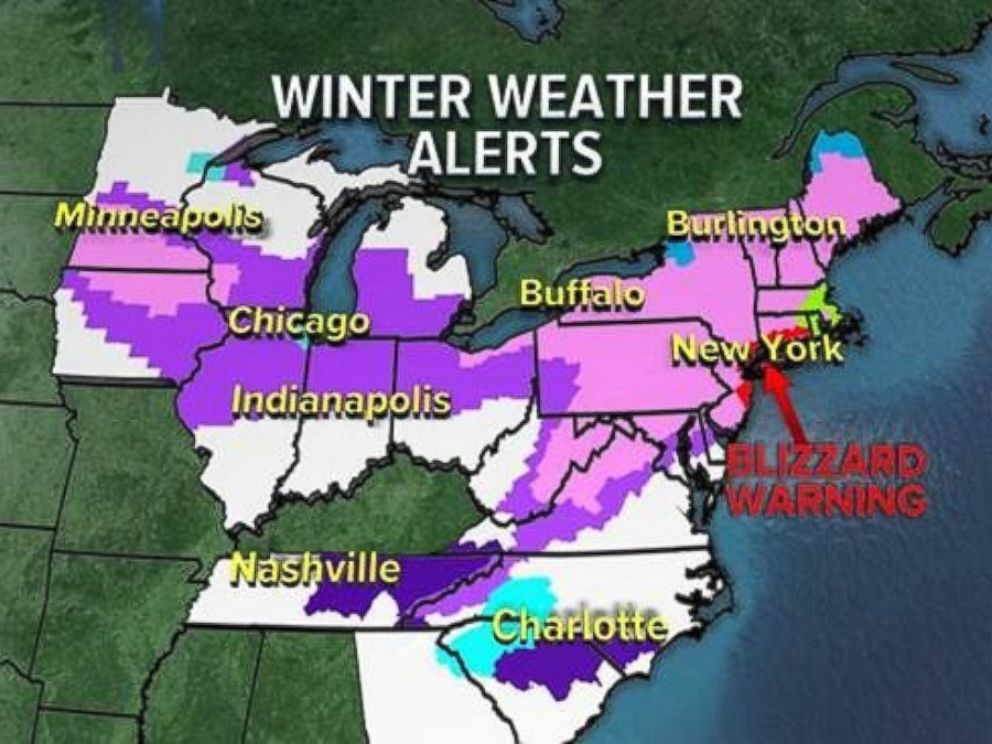 Blizzard warning issued as winter storm Stella gears up