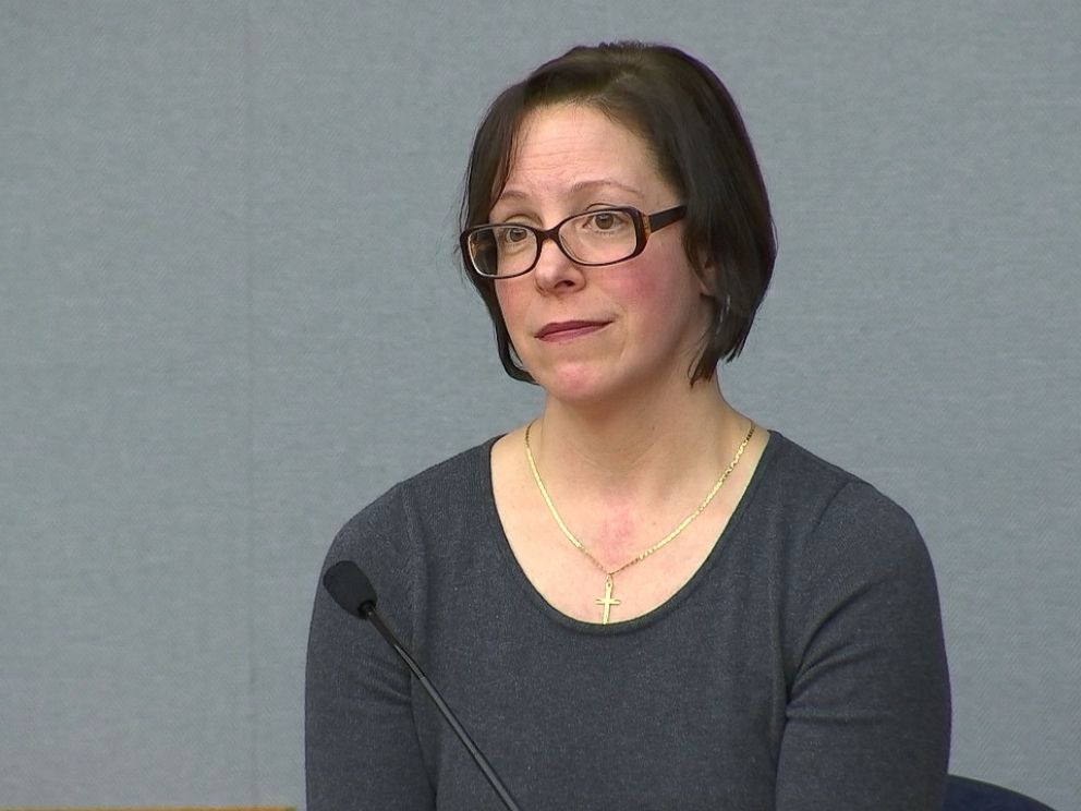 Matt Leilis ex-wife Joanne Lucie is shown here testifying at his murder trial.
