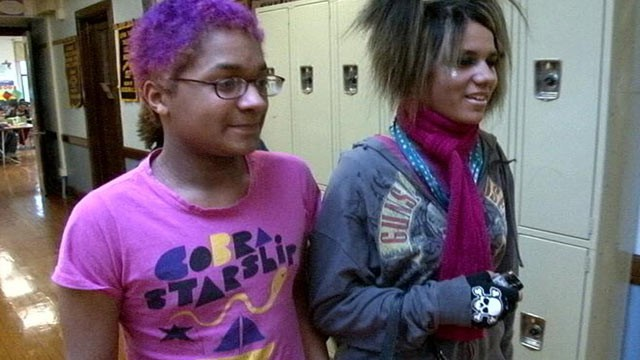 PHOTO:&nbsp;Two students at The Alliance School, a public middle school in Milwaukee that welcomes lesbian, gay, bisexual and transgender youth.