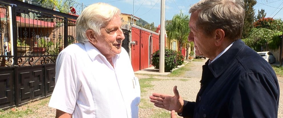 PHOTO: ABC News Chief Investigative Correspondent Brian Ross speaks with the founder of the Genesis II Church, Jim Humble, in Mexico.