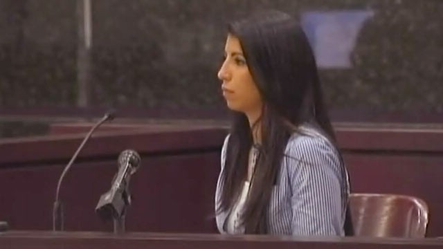 PHOTO: Paralegal Melissa Personius, seen here in a Tampa courtroom, met attorney Charles Campbell at a bar, Jan. 23. 2013.