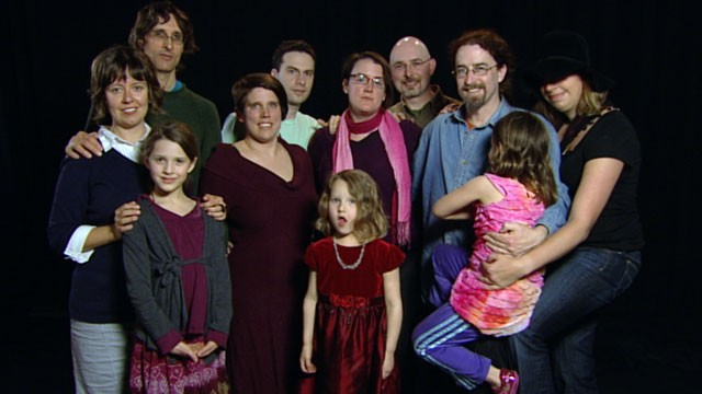 "PHOTO: A gathering of adults in open marriages, plus their children, featured in a story on open marriages on ""20/20."""