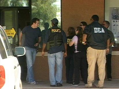 VIDEO: Investigators raid Las vegas pharmacy in Michael Jackson death probe.