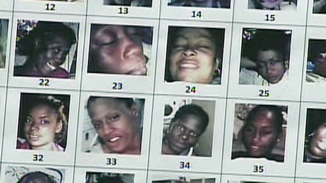 VIDEO: 180 images of women were found on the suspected serial killer's property.