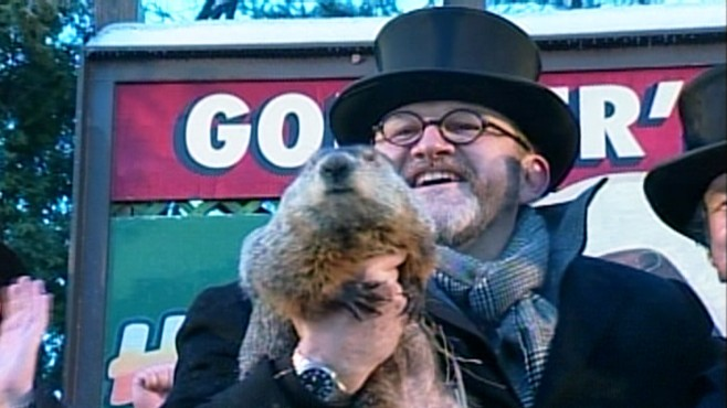 VIDEO: Punxsutawney Phil predicts an early spring at Gobblers Knob in Pennsylvania.