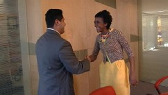 VIDEO: Mellody Hobson, President of Ariel Investment, shares tips with Marine Corp. Veteran Wesley Olivo.
