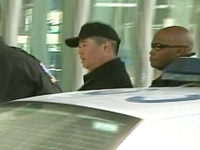 VIDEO: James Lee was arrested after Discovery Channel protest. (No audio)