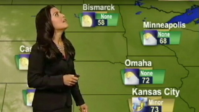 VIDEO: East coast earthquake strikes during Jeannette Calles Accuweather report.