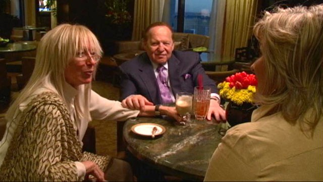 "PHOTO: ""Nightline"" anchor Cynthia McFadden during a sit down interview with billionaire Sheldon and Miriam Adelson in Nov. 2010."
