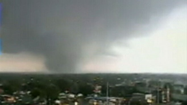VIDEO: Sky Cam captures a massive twister in Alabama.