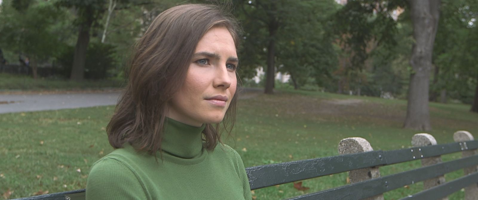 """Amanda Knox is seen here during an interview with ABC News """"Nightline ..."""