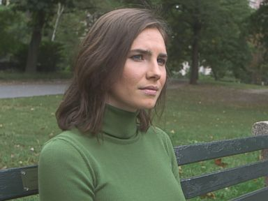 Amanda Knox is seen here during an interview with ABC News Nightline.
