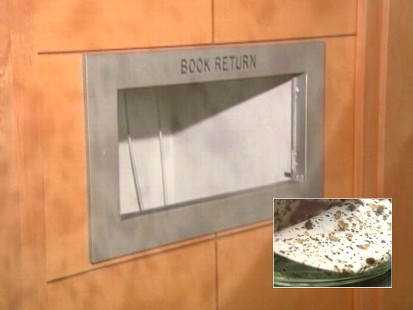 Video: Library books returned infested with bed bugs.