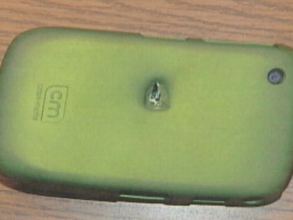 VIDEO: An Ohio womans BlackBerry prevents her from being pierced by a bullet.
