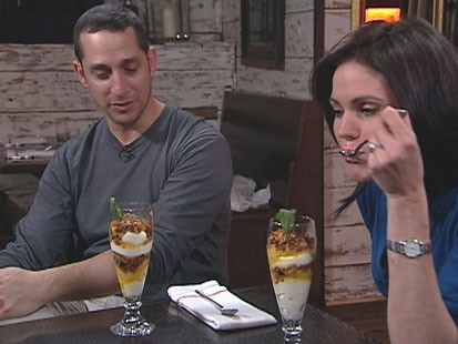 VIDEO: Almond chef Jason Weiner makes the passion fruit and mousse dessert.