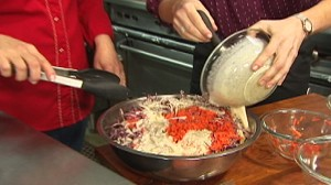 VIDEO: Confetti cole slaw on Chefs table